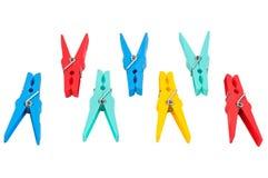 Clothespin Fotografie Stock