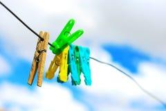 clothespin Photo libre de droits