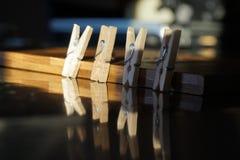 clothespin Fotografie Stock Libere da Diritti