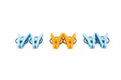 Clothespin. Six clothespin symbolises world net Royalty Free Stock Image
