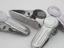 Clothespin aluminum Royalty Free Stock Photo