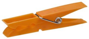 Clothespin arancione Fotografia Stock Libera da Diritti