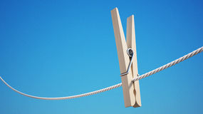 Clothespin with Clipping Path Stock Photos