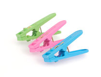 Clothespin clips Royalty Free Stock Photo