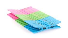 Clothespin clips Stock Photo