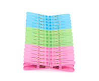 Clothespin clips Stock Image