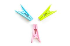 Clothespin clips Stock Photography