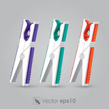 Clothespin for clothesline vectore Stock Photography