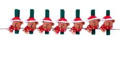 Clothespin de la Navidad Imagen de archivo libre de regalías