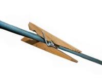 Clothespin de madeira Fotos de Stock Royalty Free