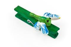 clothespin dekorował dragonflies drewnianych zdjęcia royalty free