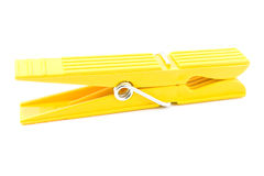Clothespin giallo fotografia stock libera da diritti