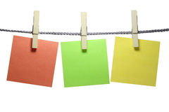 Clothespin with notepad stock photography