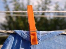 clothespin pralnia obrazy royalty free