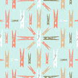 Clothespin retro seamless pattern shape background Royalty Free Stock Photo