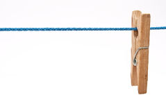 Clothespin on rope Royalty Free Stock Photo