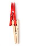 Clothespin rosso immagine stock libera da diritti