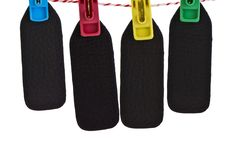 Clothespin and tag Royalty Free Stock Photo
