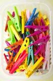 clothespins ζωηρόχρωμος Στοκ Φωτογραφίες