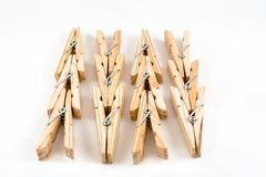 Clothespins ξύλινο στοκ εικόνες με δικαίωμα ελεύθερης χρήσης