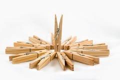 Clothespins ξύλινο στοκ εικόνες