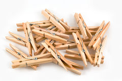 Clothespins ξύλινο στοκ φωτογραφία με δικαίωμα ελεύθερης χρήσης