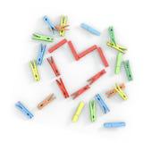 clothespins цветастые иллюстрация штока