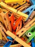 clothespins photographie stock libre de droits