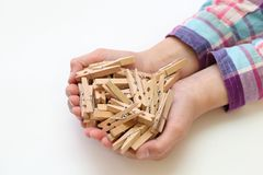 clothespins Imagem de Stock Royalty Free