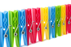 Clothespins fotografie stock