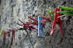 Clothespins Fotografia de Stock