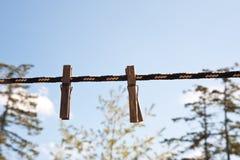 Clothespins Стоковая Фотография