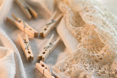Clothespins Obrazy Stock