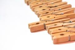 Clothespins Zdjęcia Stock
