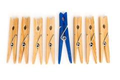 Clothespins Foto de archivo