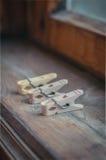 clothespins Immagine Stock Libera da Diritti
