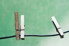 clothespins Photo libre de droits