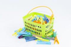 clothespins fotografie stock libere da diritti