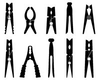 clothespins Foto de Stock
