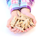 clothespins Stockfotos