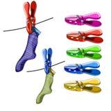 clothespins Stockbild
