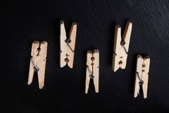 clothespins Obraz Royalty Free