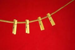 clothespins arkana cztery Zdjęcie Stock