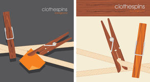Clothespins. Backgrounds For Design Royalty Free Stock Photos