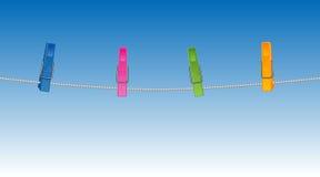 Clothespins coloreados libre illustration