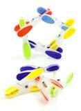 Clothespins coloridos Imagem de Stock Royalty Free