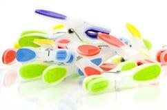 Clothespins coloridos Fotografia de Stock