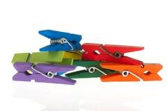 Clothespins coloridos Imagenes de archivo