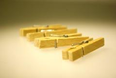 clothespins cztery Zdjęcia Stock