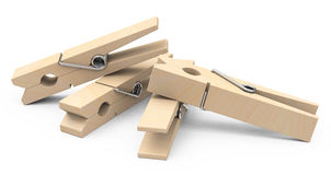 The clothespins Royalty Free Stock Photography